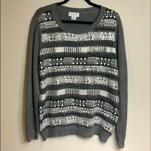 Liz Claiborne winter Garden sweater w/Sequence